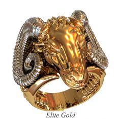 Фантазийный мужской перстень Bestia с реалистичным изображением животного