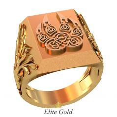 Дизайнерский мужской перстень Garra с этническим рисунком