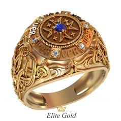 Дизайнерский перстень Avenger с изображением креста тамплиеров