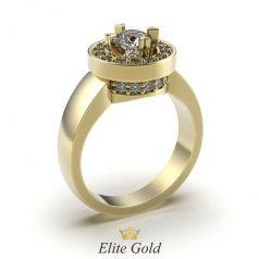 Эксклюзивное женское кольцо Nelly в камнях по центру