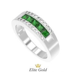 Стильное женское кольцо Nargis усыпанное камнями