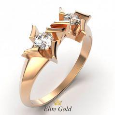 Стильное геометричное кольцо Selena