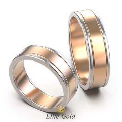 Классические обручальные кольца Curon в комбинированном золоте
