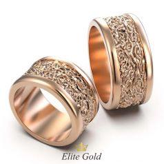 Широкие обручальные кольца Syra с рельефной текстурой