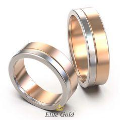 Классические обручальные кольца Twain в двух цветах золота