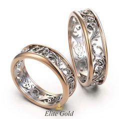 Винтажные обручальные кольца Daydream с узорами по ободку