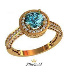 Авторское кольцо Revanche с россыпью камней в 3 ряда