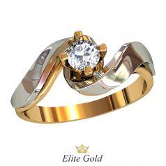 Дизайнерское кольцо Jane с одним центральным камнем
