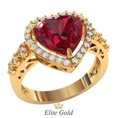 Женское кольцо Barrera с крупным камнем в форме сердца