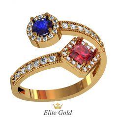 Дизайнерское женское кольцо Gambit нестандартной формы