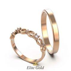 Тонкие обручальные кольца Eterna со знаками бесконечности
