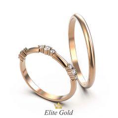 Тонкие обручальные кольца Saralee классической формы