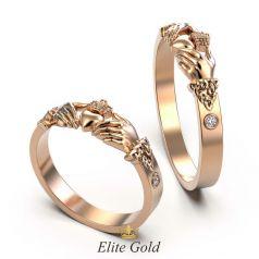 Кладдахские обручальные кольца Eternity - облегченная версия
