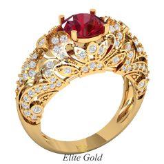 Женское винтажное кольцо Berdine с высоким кастом и узорами