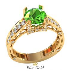 Женское дизайнерское кольцо Brava с крупным камнем в центре
