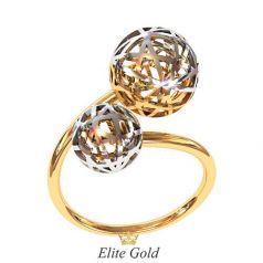 Дизайнерское тонкое кольцо Naya в комбинированном золоте