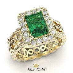 помолвочное кольцо Symbol of love в лимонном золоте