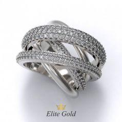 Авторское роскошное кольцо Gravity со 170 камнями