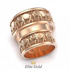 Дизайнерские обручальные кольца Elephante с глянцевым изображением слонов