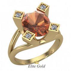 Эксклюзивное фигурное женское кольцо Cheryl с крупным камнем