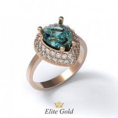 Авторское женское кольцо Amanda с россыпью камней