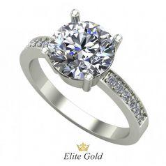 Авторское кольцо Anita с крупным камнем и россыпью камней