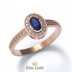 Элегантное женское кольцо Eva с россыпью камней