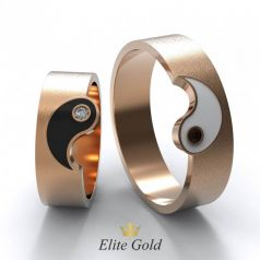 Дизайнерские обручальные кольца Инь Янь