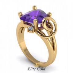 Эксклюзивное женское кольцо Erika с крупным центральным камнем