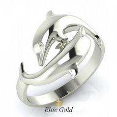 Креативное кольцо с изображением дельфина
