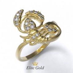 Авторское кольцо Scorpio в камнях