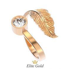 Эксклюзивное женское кольцо Belinda с пером и камнем