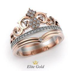 Дизайнерское кольцо корона Beryl в камнях