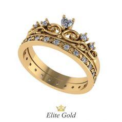 Авторское кольцо корона Constance в камнях