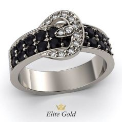 Дизайнерское кольцо Gloria в виде ремешка