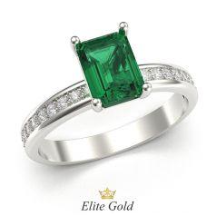 Авторское помолвочное кольцо Emerence в белом золоте
