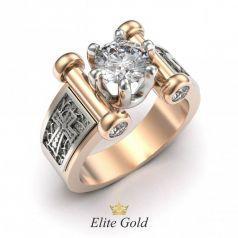 Авторское мужское кольцо с крестом Тамплиера
