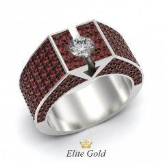 Эксклюзивное мужское кольцо усыпанное камнями