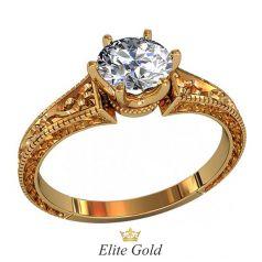 кольцо Darcie с узорным ободком в красном золоте 585