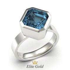 кольцо Demi с квадратным камнем в белом золоте