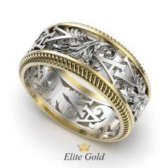 Фантазийное обручальное кольцо Megan с узорами