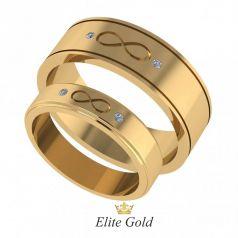 Элегантные обручальные кольца Jamie со знаком бесконечности