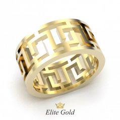 Авторское обручальное кольцо в стиле бренда Версаче