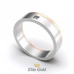 Дизайнерское обручальное кольцо Valerie с камнем