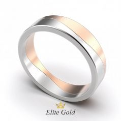 Авторское обручальное кольцо Jenna двухцветное