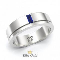 Авторское обручальное кольцо Tina с резьбой и камнем