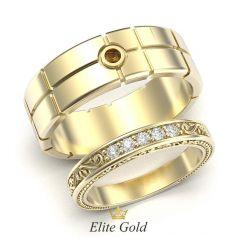 обручальные кольца Esperanza в лимонном золоте
