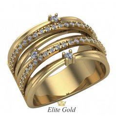 Дизайнерское женское кольцо Ella в камнях