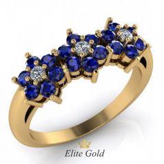 Авторское женское кольцо Amy в камнях