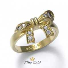 Элегантное женское кольцо Melissa в виде банта